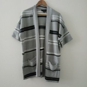 Lane Bryant Stripped Open Front Cardigan